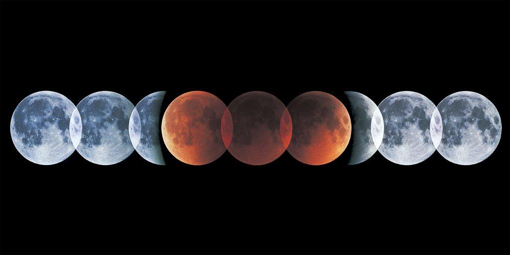 Полное лунное затмение и Великое противостояние Марса 27 июля 2018 г.