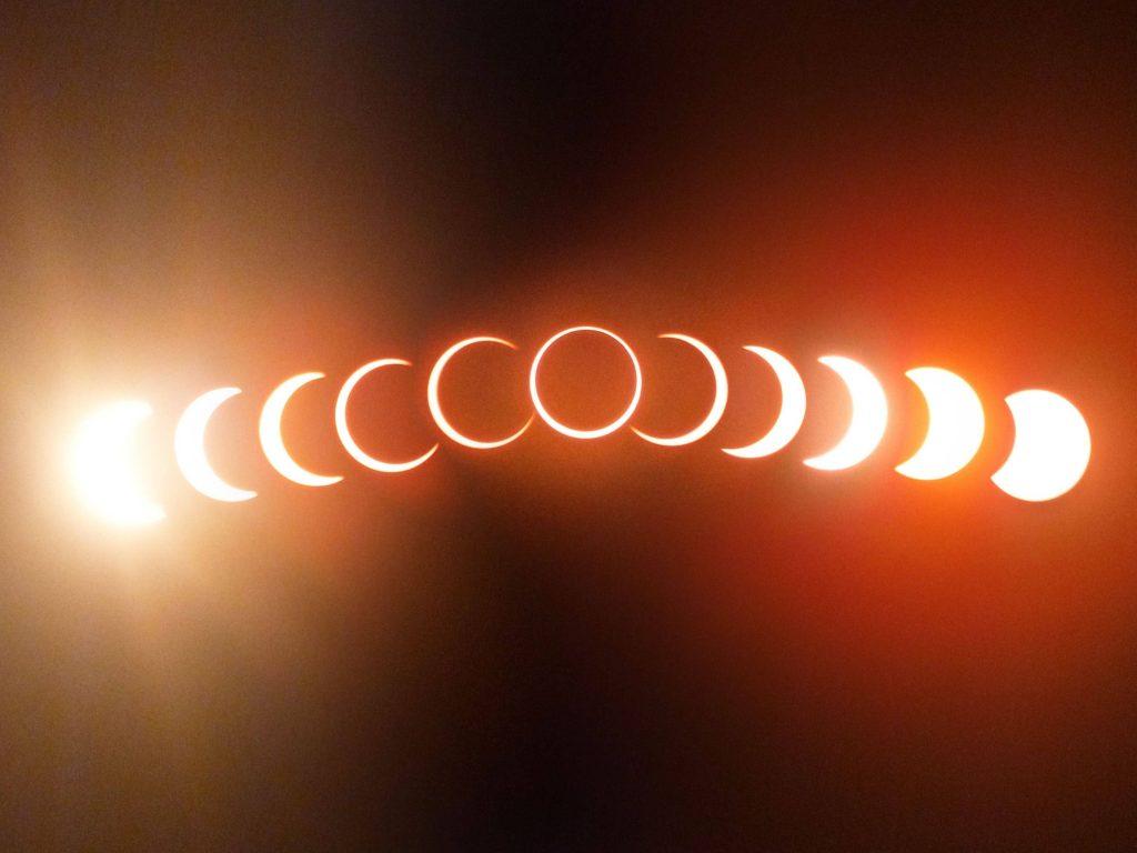 Частное солнечное затмение в Минске 10 июня